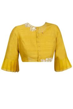 Saree Jacket Designs, Choli Blouse Design, Blouse Designs High Neck, Fancy Blouse Designs, Stylish Blouse Design, Stylish Dress Designs, Traditional Blouse Designs, Ikat, High Neck Saree Blouse