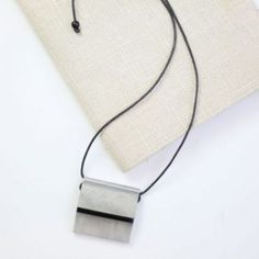 Mixed Media Necklace in Gray and Black