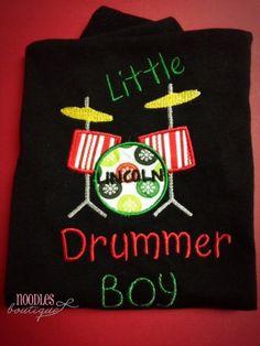 Little Drummer Boy Applique Shirt by NoOdLeSBoutique on Etsy, $18.00