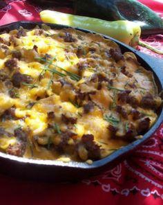 """A campfire skillet breakfast """"casserole"""" Like & Repin. Noelito Flow. Noel http://www.instagram.com/noelitoflow"""