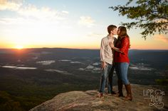 Chattanooga Engagement Photography - Life with a View Studio - Sunset Rock