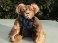 from a vintage mink coat,   http://www.stearnsybears.com/for-sale/mglbcat7ilkswaulfyhzclcinkt4su