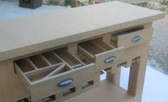 TABLE CONSOLE DE CUISINE TERMINEE ! LA DECO !!! - meubles en carton marie krtonne