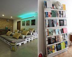 Pallet Bed or Wall Shelf Diy Pallet Furniture, Diy Pallet Projects, Home Projects, Pallet Ideas, Funny Furniture, Palette Furniture, Palette Projects, Refurbished Furniture, Unique Furniture