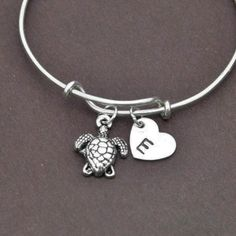 A personal favourite from my Etsy shop https://www.etsy.com/hk-en/listing/225255432/sea-turtle-bangle-sterling-silver-bangle