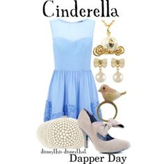 Cinderella (Outfits by DisneyThis-DisneyThat @Polyvore) #Cinderella