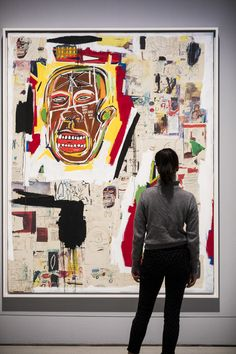 Basquiat: Boom For Real Installation view Barbican Art Gallery 21 September 2017 – 28 January 2018 © Tristan Fewings / Getty Images | Artwork: Jean-Michel Basquiat, King of the Zulus, 1984-85 © The Estate of Jean-Michel Basquiat. Licensed by Artestar, new York Jm Basquiat, Jean Michel Basquiat Art, Robert Rauschenberg, Cy Twombly, Keith Haring, Andy Warhol, Pablo Picasso, Harlem Renaissance Artists, Graffiti