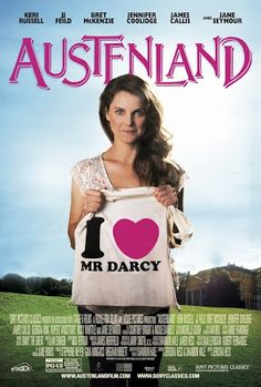 Pride & Prejudice (2005) Blog: Keri Russell is proudly showing off her 'I Love Mr. Darcy' tote bag in new 'Austenland' poster