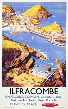ilfracombe-in-glorious-devon-s-ocean-coast.-vintage-british-railway-travel-poster-by-harry-riley-386-p.jpg (267×428)