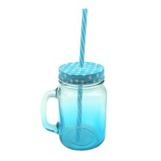 MASON JAR IN BLUE GRADIENT - Shop online at Candylicious! International shipping available. Dessert | Gifts | Cupcake | Kitchen | Candy