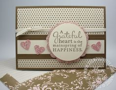 Think Pink Glimmer & New WOW! Video Tutorial - Mary Fish, Stampin' Pretty The Art of Simple & Pretty Cards