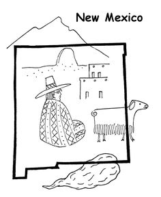 New Mexico State Flower Coloring Page Yucca Usa