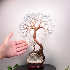 Wire Tree sculptureTree Of Life Elder Duo Spirit by CrowsFeathers  SOLD