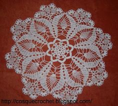 Cute white doily with diagram