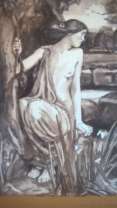 Detail Waterhouse zwart/wit aquarel op papier '15 Detail, Painting, Art, Shop Signs, Art Background, Painting Art, Kunst, Paintings, Performing Arts