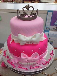 Princess 1st birthday cake all fondant