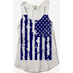 Womens 4th of July American Flag Tri Blend Tank Top Us July 4th Alternative Apparel White S M L Xl featuring polyvore fashion clothing tops shirts tank tops tanks silver women's clothing american flag singlet checkered shirt checked shirt usa flag shirt usa flag tank top
