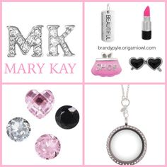Mary Kay themed Origami Owl necklace. Advertise your MARY KAY business without even thinking about it.