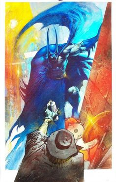 Batman vs Scarecrow by Simon Bisley