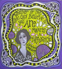 Rosie's Arty Stuff: MAKING A DIFFERENCE ...