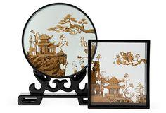 Chinese Cork Dioramas, Set of 2 on OneKingsLane.com