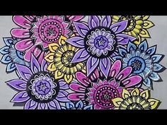Doodled Flowers - YouTube
