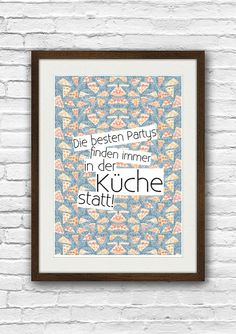 Poster Küchen Party // poster party in the kitchen by Lafoja via DaWanda.com