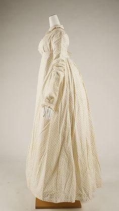 Morning dress (image 2) | British | 1815-18 | cotton | Metropolitan Museum of Art | Accession Number: 1975.274.2