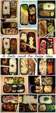 16 real bento box lunches with recipe ideas. http://www.sewinlove.com.au/2013/08/13/16-days-bento-lunch-boxes-16%E6%97%A5%E9%96%93%E3%81%AE%E3%81%8A%E5%BC%81%E5%BD%93/