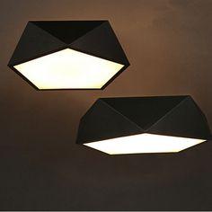 Elegant Aliexpress Moderne Decken led lampe Geometrischen polygon eisen gebacken farbe k rper Acryl schirmtr gerplatte