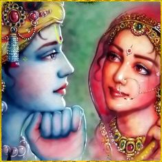 """♥ RADHA KRISHNA ♥ Artist: Mahendra Dubey """"The transcendental goddess Srimati Radharani is the direct counterpart of Lord Sri Krishna. She is the central figure for all the goddesses of fortune. She possesses all attractiveness to attract the. Hare Krishna, Radha Krishna Photo, Radha Krishna Love, Radha Rani, Lord Krishna Images, Radha Krishna Pictures, Krishna Photos, Radhe Krishna Wallpapers, Lord Krishna Wallpapers"""