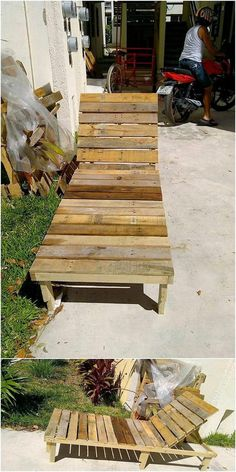 This is much an innovative piece of wood pallet creation that would make you fall in love with it. This creation is basically a sun lounger that is shape in amazing blends of being functional one. It can even be used as seating purpose. Try to make it created with light in weight so that you can make it move easily.