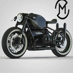 Another one beast by @ziggymoto #bmw #boxertwin #custom #bike #motorcycle #bobber #instamoto #builtnotbought #stocksucks #ride #ride_like_hell