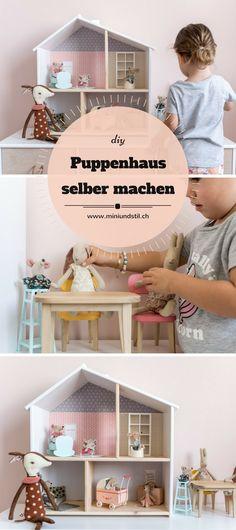Puppenhaus selber machen // DIY: Ich zeige euch, wie ihr das IKEA Puppenhaus ganz einfach aufhübschen könnt. Und ich stelle euch unsere neuen Puppenhausbewohner von Maileg vor #puppenhaus #dollhouse #spielsachen #diy