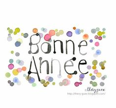 Watercolor New Year Card by Thévy Guex http://thevy-guex.blogspot.fr/