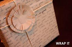 DIY Handwritten Wrapping Paper