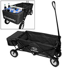 Collapsible wagon w/ detachable cooler. Made by Subaru, $141