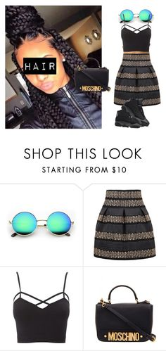 ROMWE by offically-tri1l on Polyvore featuring Charlotte Russe, Moschino and Retrò