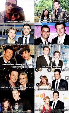 Cast members speak kind and warm hearted words towards their late friend #RIPCORYMONTEITH