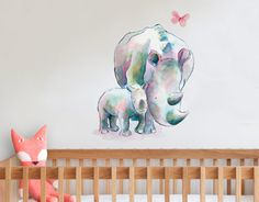 wendy and trudy the Rhinos  Raewyn Pope Artist Wall Decals New Zealand Your Decal Shop Wall Decal