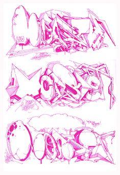 Dem 189 Monster sketch graffiti