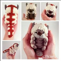 Appa plush Toy from Avatar the last Airbender Etsy listing at https://www.etsy.com/au/listing/511494604/appa-and-momo-knitted-amigurumi-pdf