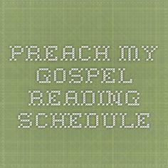 Preach My Gospel Reading Schedule