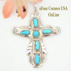 Four Corners USA Online - Turquoise Sterling Cross Jewelry Native American Zuni Cecilia Iule NACR-1402, $125.00 (http://stores.fourcornersusaonline.com/turquoise-sterling-cross-jewelry-native-american-zuni-cecilia-iule-nacr-1402/)
