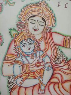 Black Canvas Paintings, Indian Art Paintings, Kerala Mural Painting, Madhubani Painting, Lord Shiva Painting, Ganesha Painting, Outline Drawings, Cool Art Drawings, Mandala Drawing