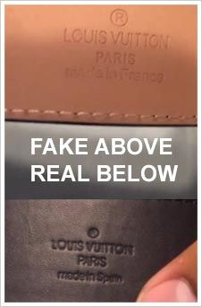Fake Vs Real Louis Vuitton Pinterest