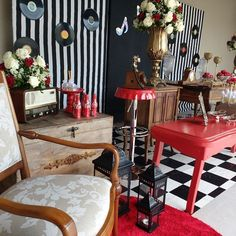 1960s Party, Retro Party, 20th Birthday, Birthday Parties, Party Themes, Furniture, Home Decor, Retro Birthday Parties, Music Themed Parties