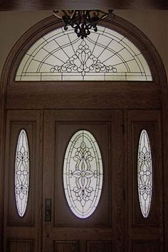 stained glass front entry door with side panels - Bing Images