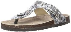 Muk Luks Womens Tina Flat Sandal Black 8 M US * You can find more details by visiting the image link.