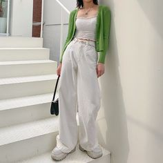 Korean Outfit Street Styles, Korean Outfits, Retro Outfits, Cute Casual Outfits, Korean Girl Fashion, Ulzzang Fashion, Korean Street Fashion, Aesthetic Fashion, Aesthetic Clothes